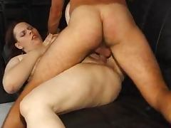 Chubby whore blows and gets her hairy cunt pounded remarcably well