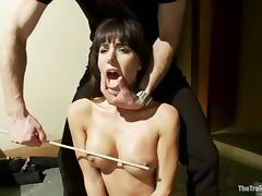 Busty brunette Gia Dimarco is paralyzed and fucked hard