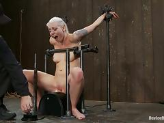 Blonde Lorelei Lee Riding a Sybian in Bondage Video