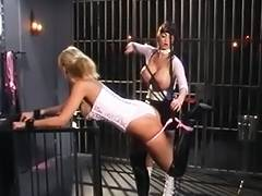Mastix punishes amoral blonde in jail cell