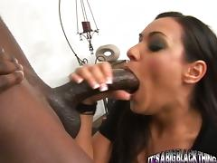 Charley Chase sucks and deepthroats a BBC before taking it in her depths