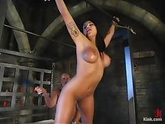Jenaveve Jolie and Mark Davis have amazing banging in hot BDSM scene