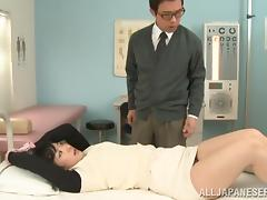 Japanese angel with a nice ass is riding her dude
