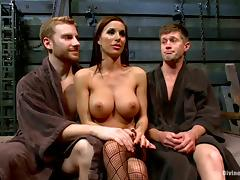 Sexy Gia Dimarco dominates two guys and gets fucked
