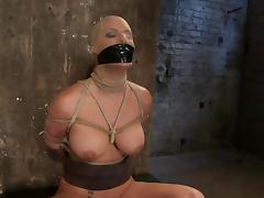 Blindfolded and bondaged Phoenix Marie is loving it