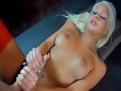 Jerk off festival by sexy blonde german girl