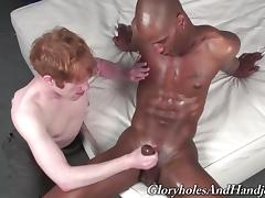 Gay Guy Serves Great A Handjob To A Yummy Black Fellow