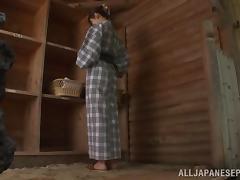 Kanako Iioka nice Asian teen enjoys outdoor wet sex