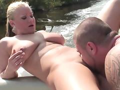 Zeta Kellie gets her pussy banged in a boat in hardcore reality clip