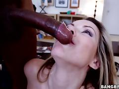 Courtney Cummz has great sex with a handsome black stud