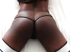 Black butt hottie Jada Fire gets drilled anal hardcore with a tit fuck